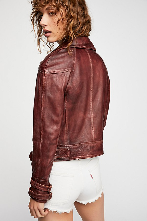 Slide View 2: Avis Leather Jacket