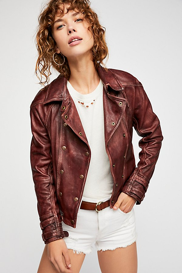 Slide View 3: Avis Leather Jacket