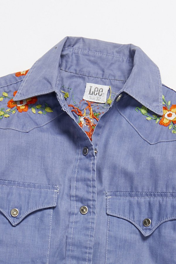 Slide View 2: Vintage 1970s Chambray Buttondown