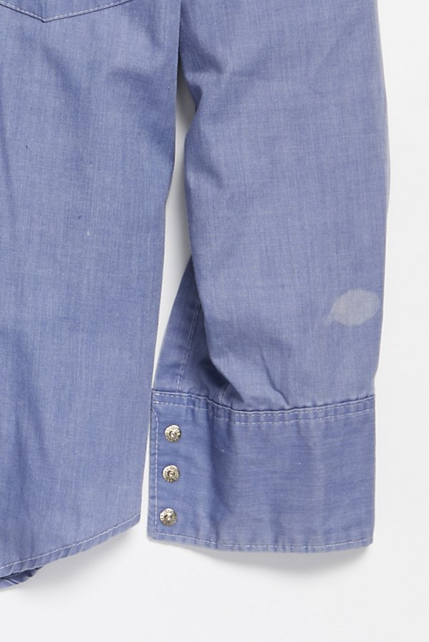 Slide View 3: Vintage 1970s Chambray Buttondown