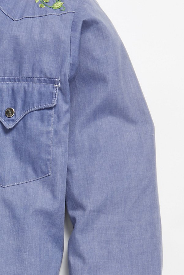 Slide View 4: Vintage 1970s Chambray Buttondown