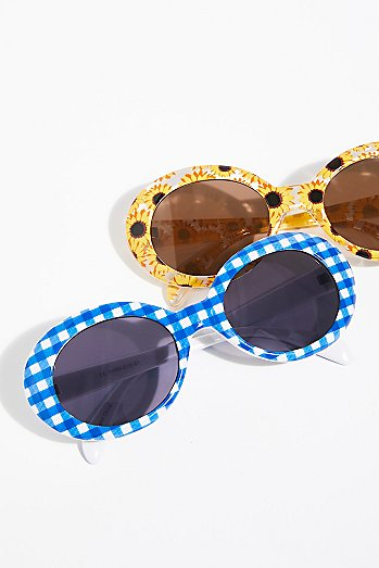 Pool Party Printed Sunglasses