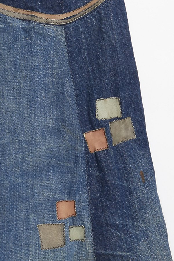 Slide View 5: Vintage 1970s Multitone Suede Patchwork Flares