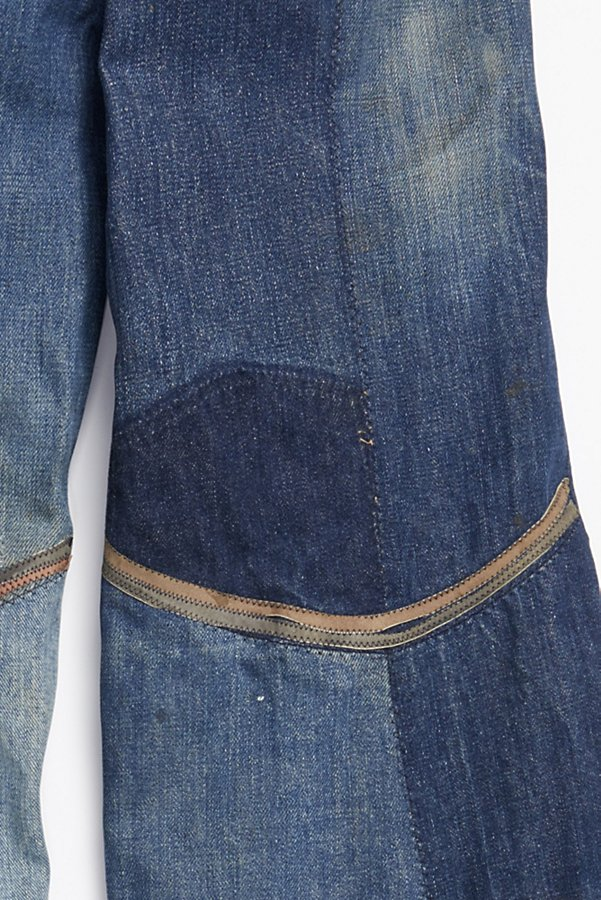 Slide View 6: Vintage 1970s Multitone Suede Patchwork Flares