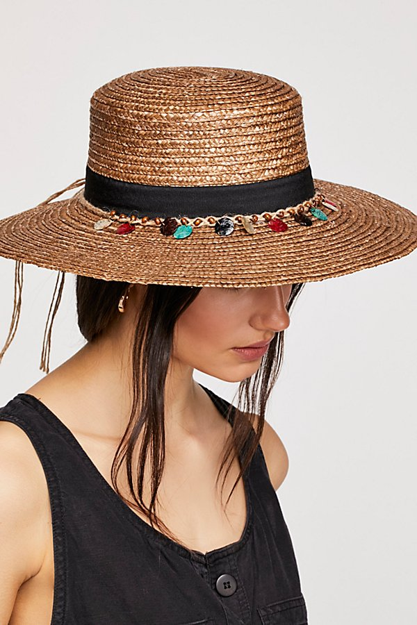 Slide View 1: Tiki Ti Embroidered Straw Boater