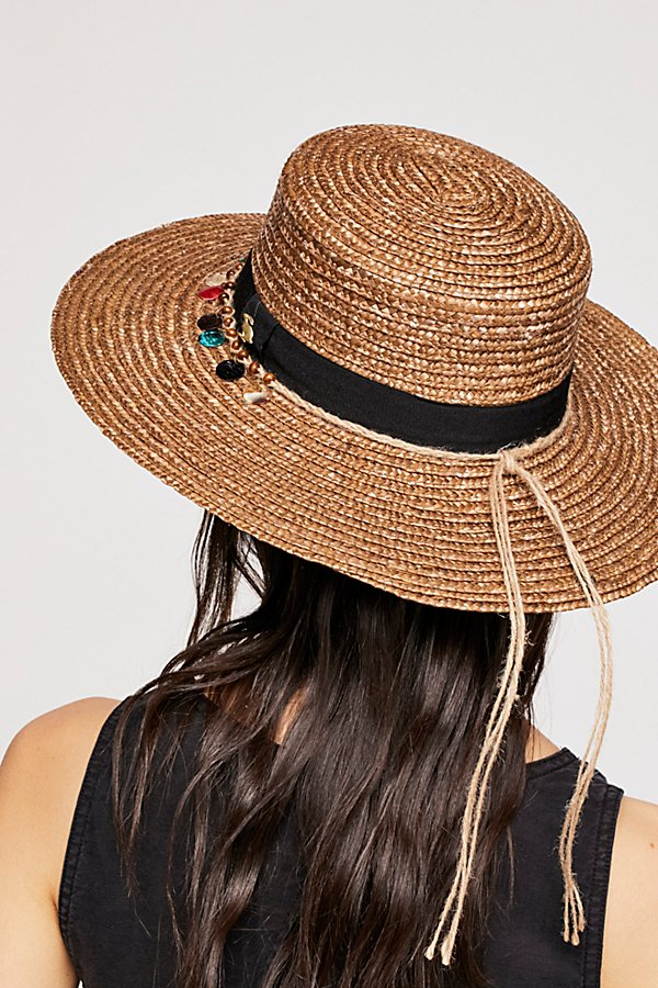Slide View 3: Tiki Ti Embroidered Straw Boater