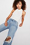 Thumbnail View 4: Maggie Mid-Rise Straight Leg Jeans