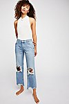 Thumbnail View 1: Maggie Mid-Rise Straight Leg Jeans