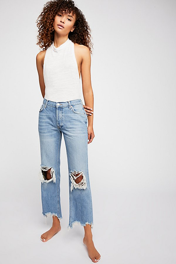 Slide View 1: Maggie Mid-Rise Straight Leg Jeans