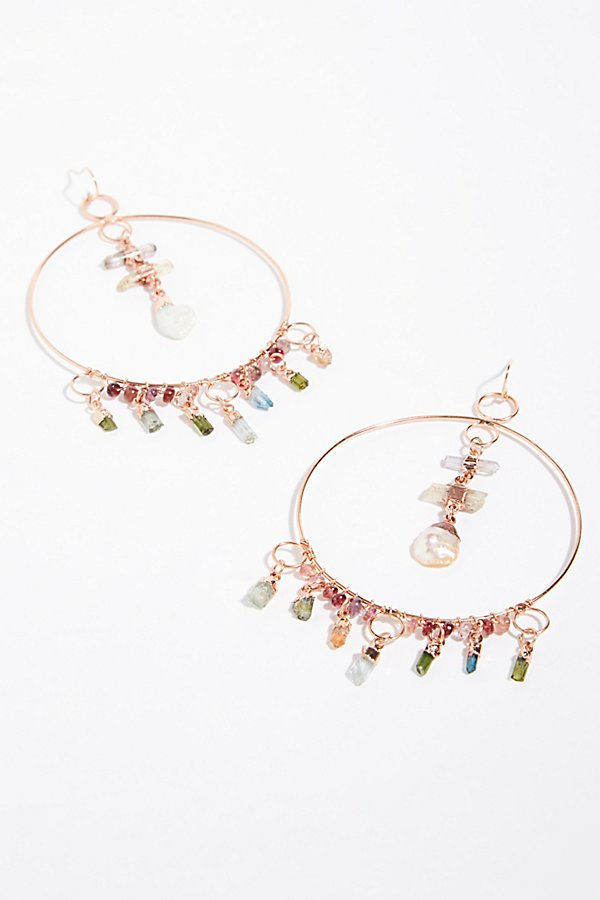Slide View 1: Cassiopeia Tourmaline Hoop Earrings