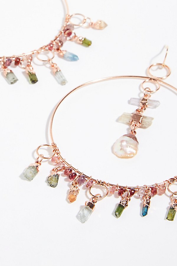 Slide View 2: Cassiopeia Tourmaline Hoop Earrings