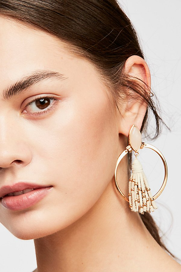 Slide View 1: Tassel In The Hoop Earrings