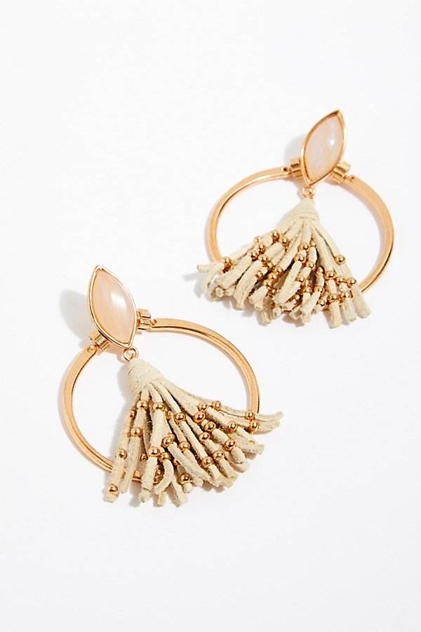 Slide View 2: Tassel In The Hoop Earrings
