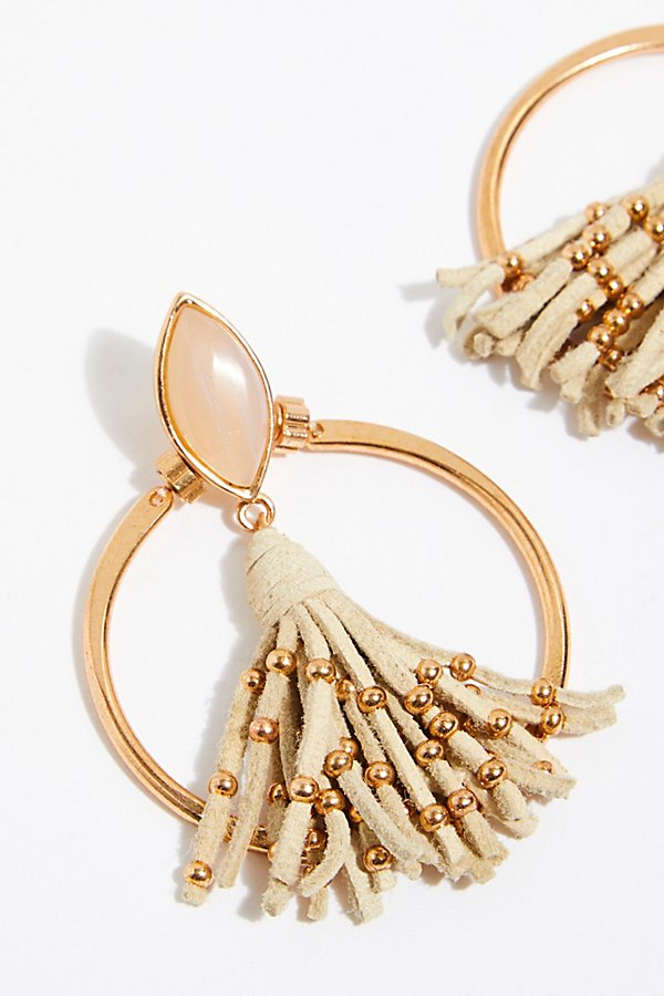 Slide View 3: Tassel In The Hoop Earrings