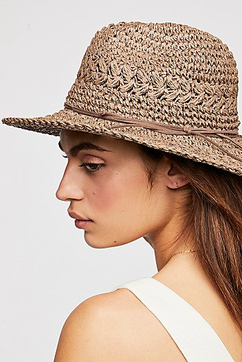 Summerland Crochet Straw Sun Hat