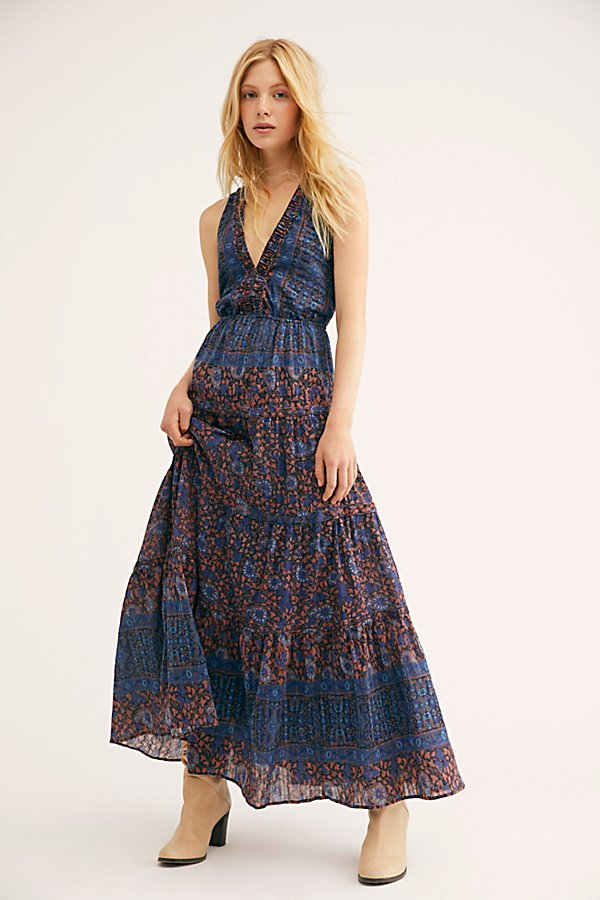 Slide View 2: Printed Birdie Maxi Dress