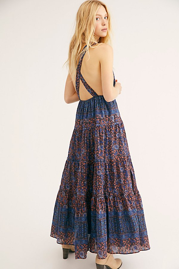 Slide View 1: Printed Birdie Maxi Dress