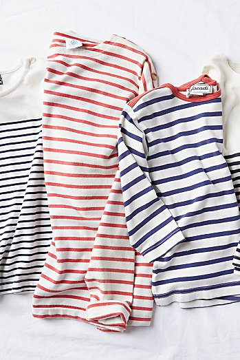 Vintage 1960s Nautical Stripe Tee