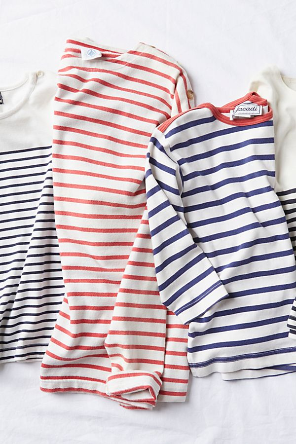 Vintage 1960s Nautical Stripe Tees