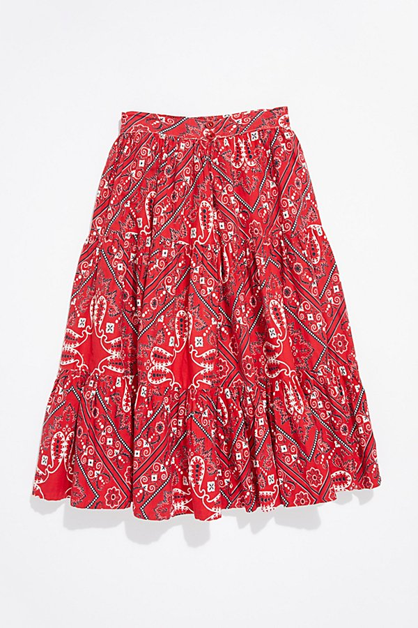 Slide View 3: Vintage 1970s Bandana Patchwork Skirt