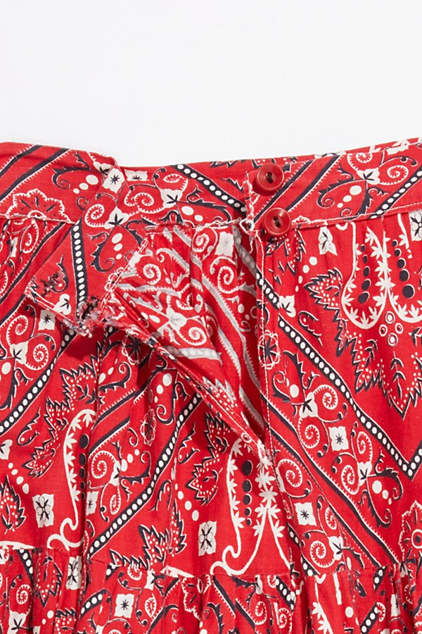 Slide View 4: Vintage 1970s Bandana Patchwork Skirt
