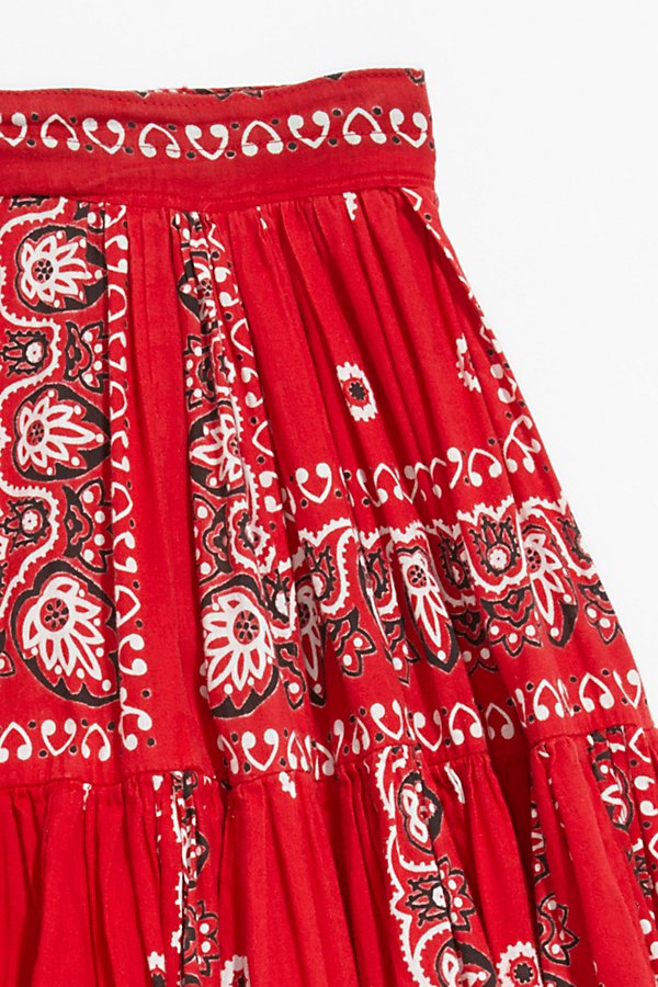 Slide View 2: Vintage 1970s Bandana Patchwork Skirt