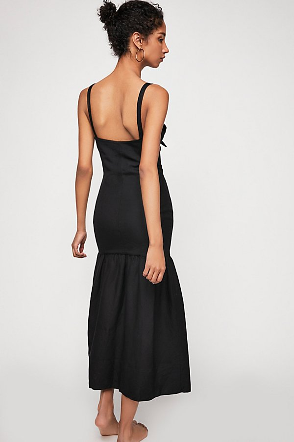 Slide View 3: Aria Drop Waist Corset Midi Dress