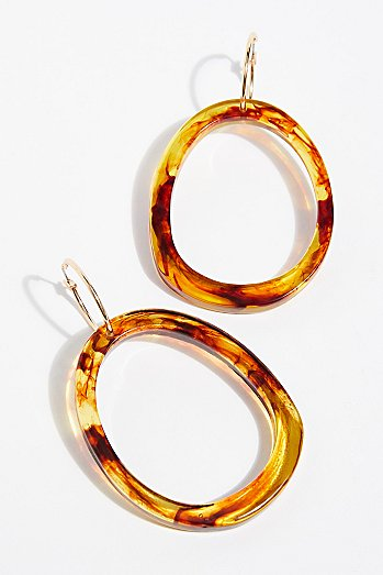 Marbella Resin Hoop Earrings