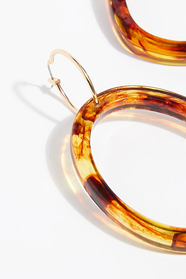 Slide View 3: Marbella Resin Hoop Earrings