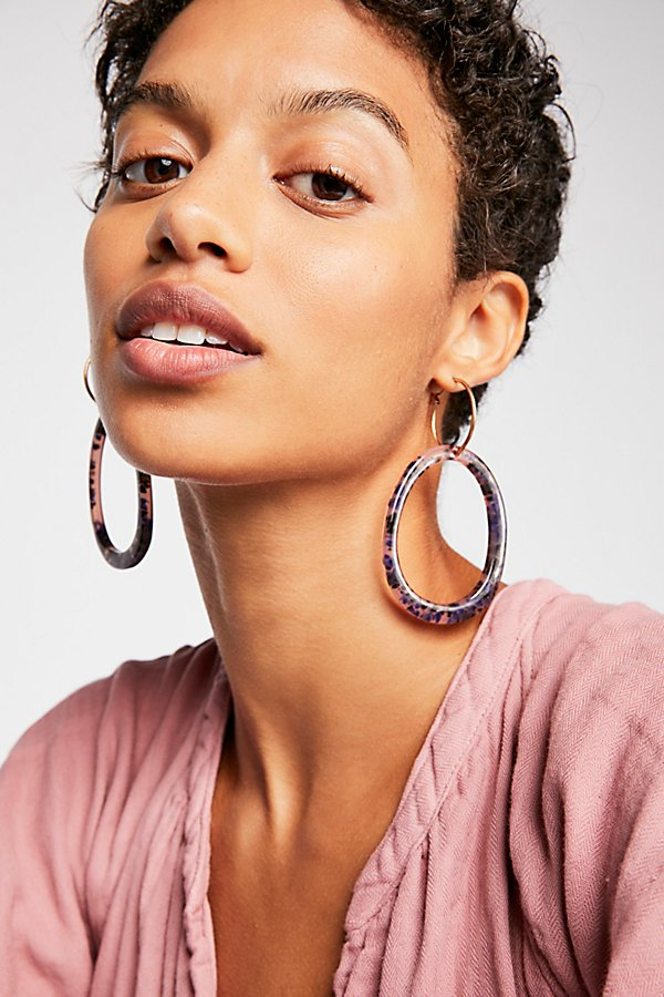 Slide View 1: Marbella Resin Hoop Earrings