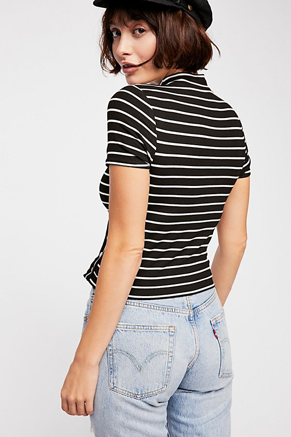 Slide View 3: Snap Back Striped Tee