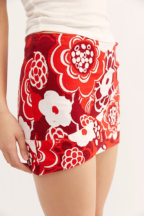 Slide View 4: That's A Wrap Printed Mini Skirt