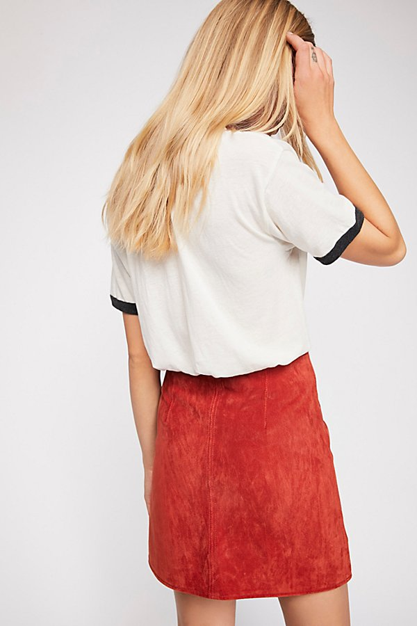 Slide View 2: Bankroll Suede Skirt
