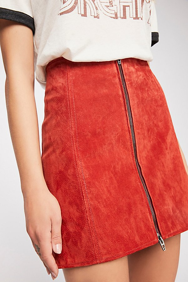 Slide View 3: Bankroll Suede Skirt