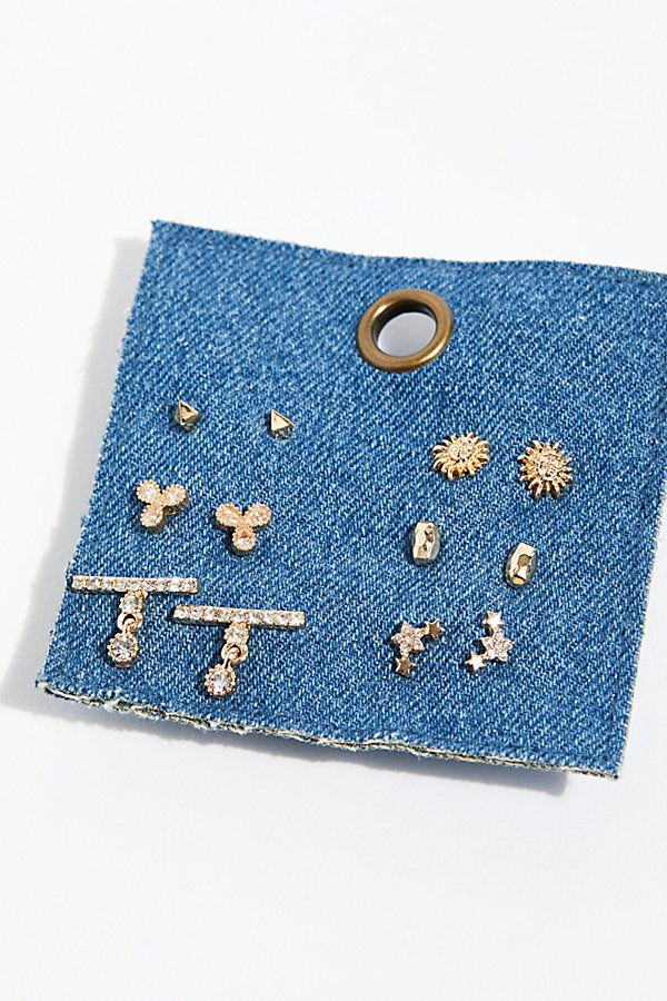 Slide View 2: Tiny Spark Stud Earring Set