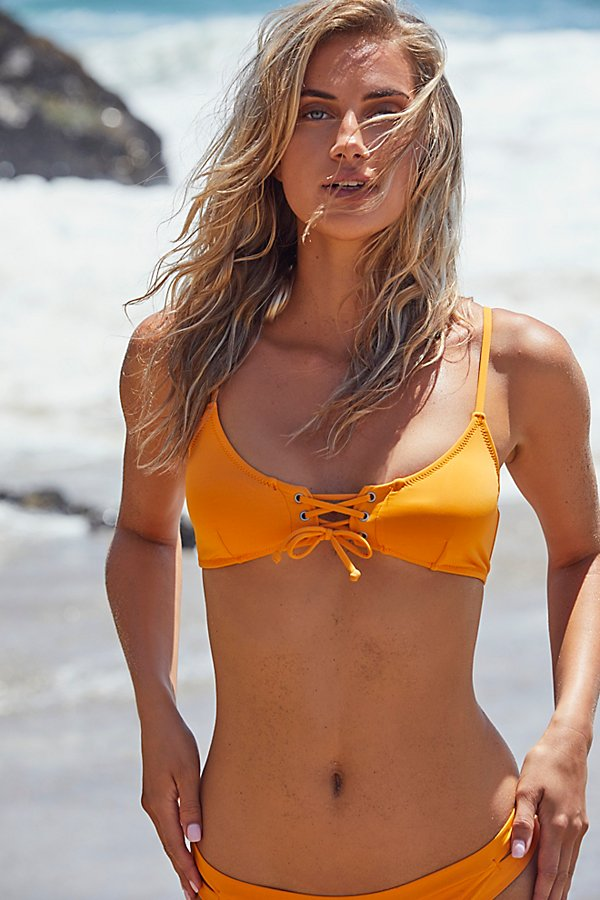 Slide View 1: Sunchaser Lace-Up Bikini Top