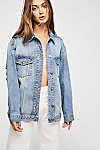 Thumbnail View 1: Studded Denim Trucker Jacket