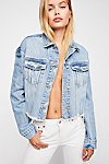 Thumbnail View 3: Cropped Denim Jacket