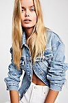 Thumbnail View 5: Cropped Denim Jacket