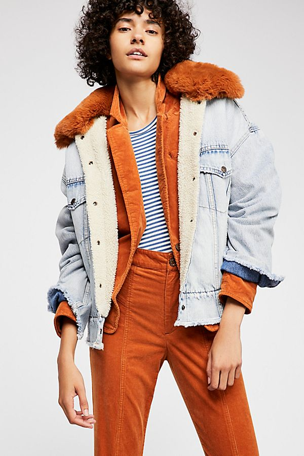 Free Oversized People Sherpa Jacket Trucker Levi's dIACqwd