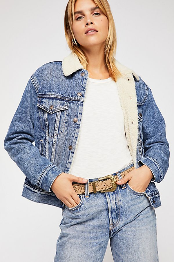 Slide View 1: Levi's Ex-Boyfriend Sherpa Trucker Jacket