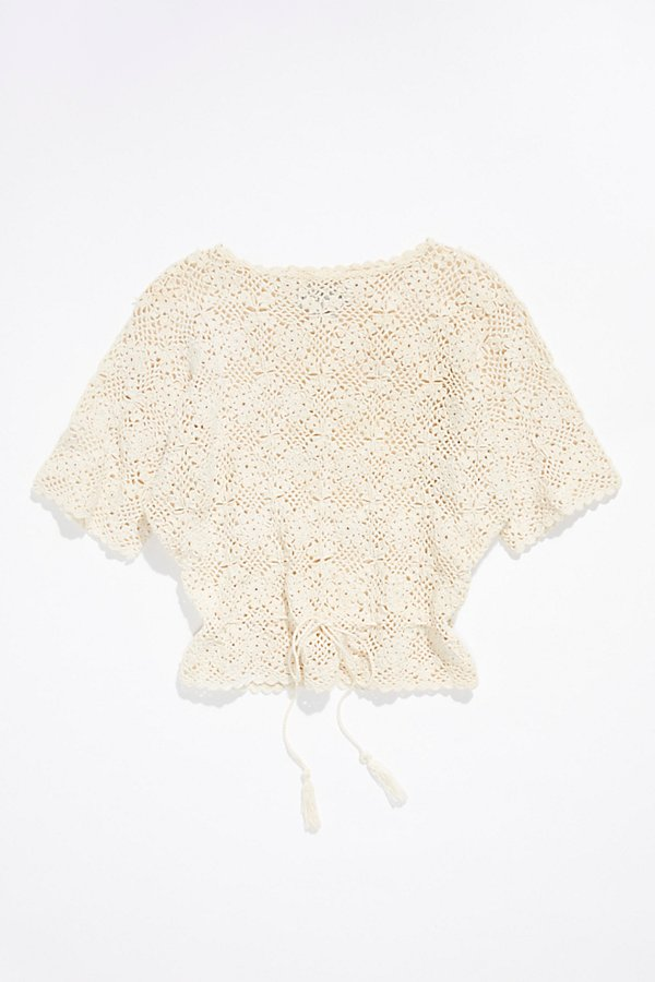 Slide View 1: Vintage 1960s Crochet Top