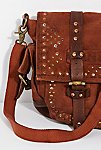 Thumbnail View 3: Studded Distressed Messenger Bag