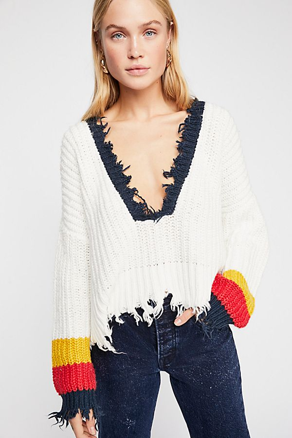Wildfox Sneak Out Striped Pullover