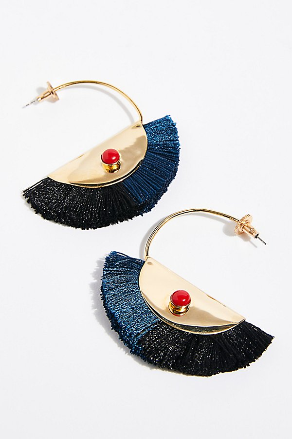Slide View 2: Nectar Nectar Fringe Hoop Earrings