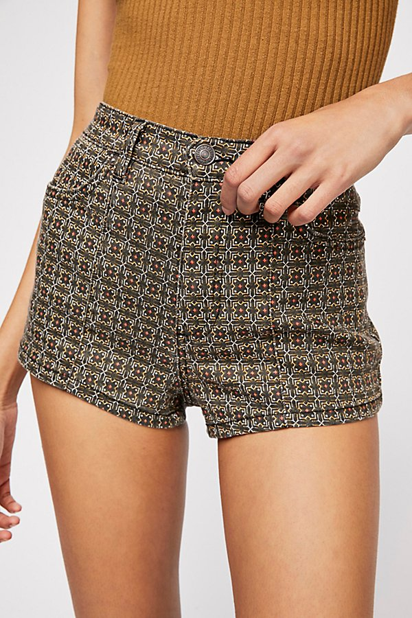 Slide View 4: Luna Denim High Rise Shorts