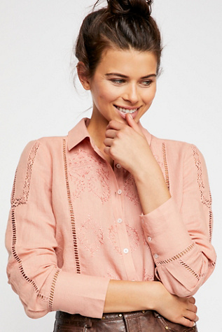 A Piece Of My Heart Buttondown by Free People