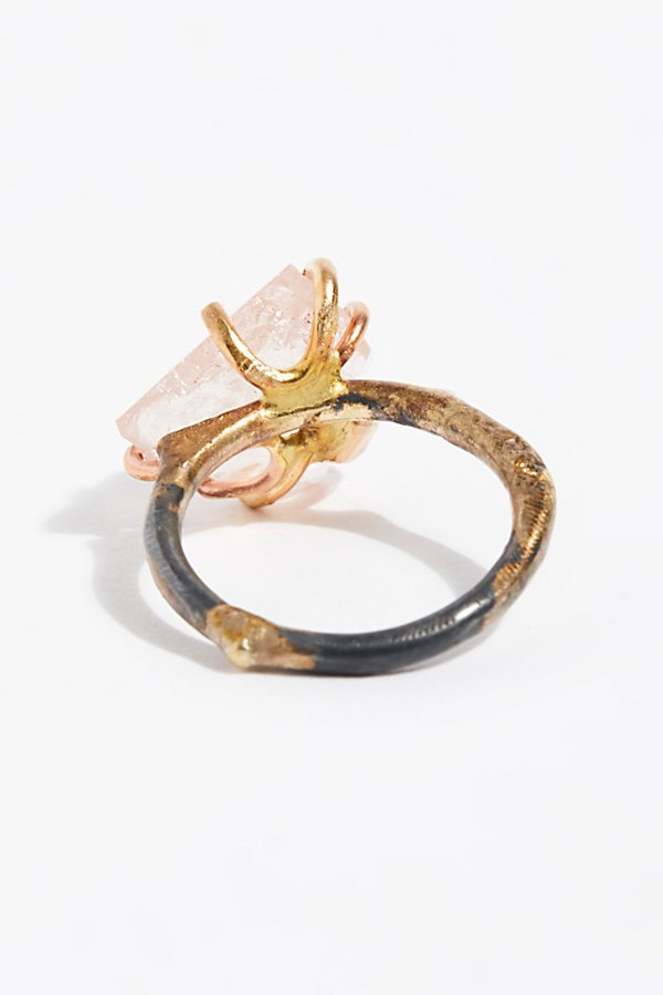Slide View 3: Raw Morganite Ring