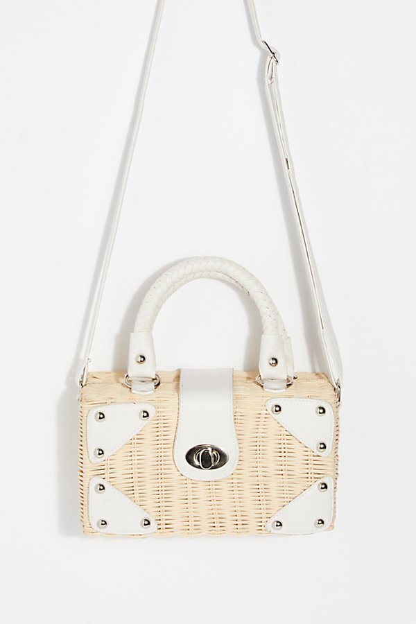 Slide View 2: Retro Mini Straw Bag