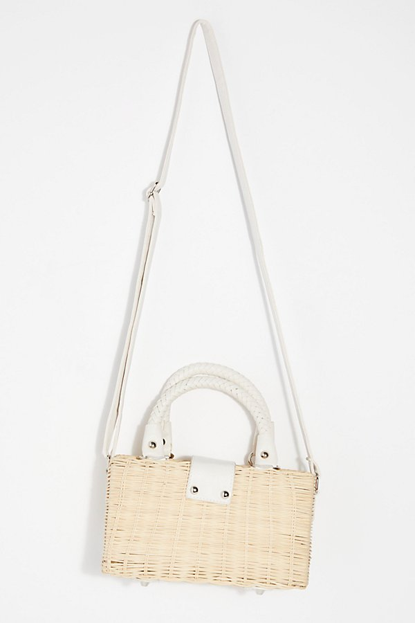 Slide View 4: Retro Mini Straw Bag